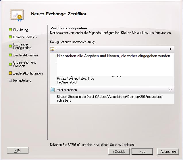 Selbstsigniertes Zertifikat für Exchange 2010 erstellen - STEFFEN HUMMEL