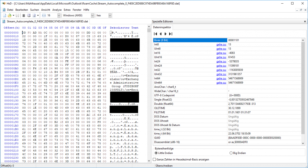 Hex-Editor-Ansicht-Outlook-Stream-Autocomplete